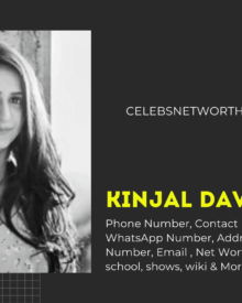 Kinjal Dave Singer Contact Number, WhatsApp Number, Address,  Office Phone Number