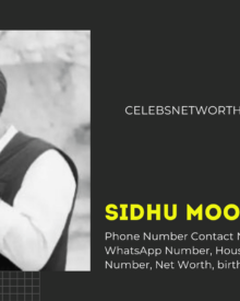 Sidhu Moose Wala Phone Number,Contact Number, Mobile Number, WhatsApp Number