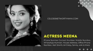Actress Meena Phone Number,Contact Number, Mobile Number, WhatsApp Number