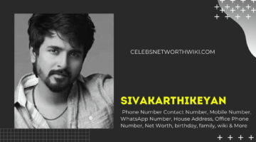 Sivakarthikeyan Phone Number, Contact Number, Mobile Number, WhatsApp Number
