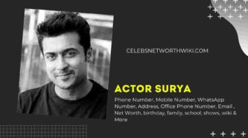 Actor Surya Phone Number, WhatsApp Number, Contact Number, Office Phone Number