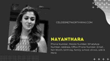 Nayanthara Phone Number, WhatsApp Number, Contact Number, Office Phone Number