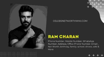Ram Charan Phone Number, WhatsApp Number, Contact Number, Office Phone Number