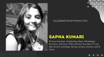 Sapna Kumari ka Phone Number, WhatsApp Number, Contact Number, Office Phone Number