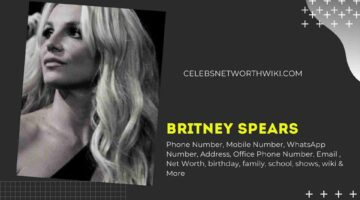 Britney Spears Phone Number, WhatsApp Number, Contact Number, Office Phone Number