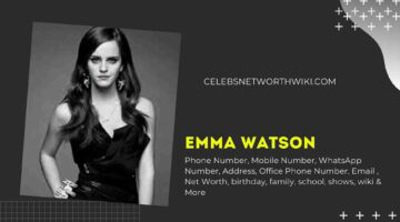 Emma Watson Phone Number, WhatsApp Number, Contact Number, Office Phone Number