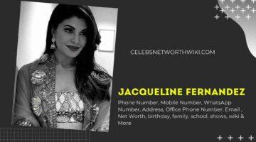 Jacqueline Fernandez Phone Number, WhatsApp Number, Contact Number, Office Phone Number