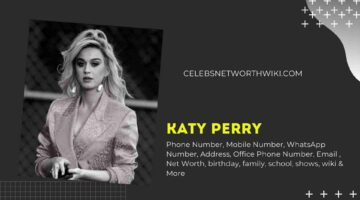 Katy Perry Phone Number, WhatsApp Number, Contact Number, Office Phone Number