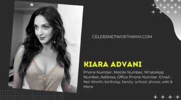 Kiara Advani Phone Number, WhatsApp Number, Contact Number, Office Phone Number