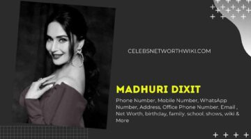 Madhuri Dixit Phone Number, WhatsApp Number, Contact Number, Office Phone Number