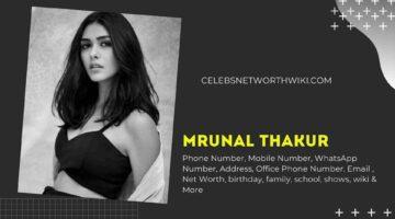 Mrunal Thakur Phone Number, WhatsApp Number, Contact Number, Office Phone Number