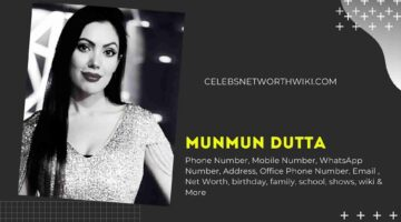 Munmun Dutta Phone Number, WhatsApp Number, Contact Number, Office Phone Number