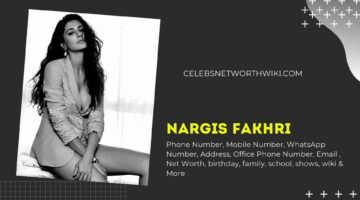 Nargis Fakhri Phone Number, WhatsApp Number, Contact Number, Office Phone Number
