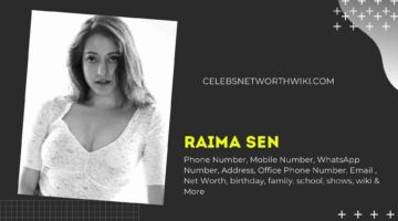Raima Sen Phone Number, WhatsApp Number, Contact Number, Office Phone Number