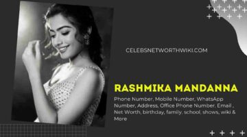 Rashmika Mandanna Phone Number, WhatsApp Number, Contact Number, Office Phone Number
