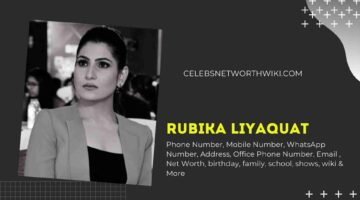 Rubika LiyaquatPhone Number, WhatsApp Number, Contact Number, Office Phone Number