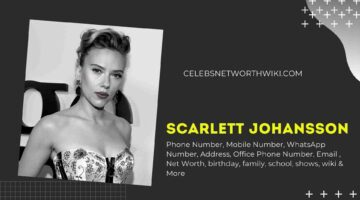 Scarlett Johansson Phone Number, WhatsApp Number, Contact Number, Office Phone Number