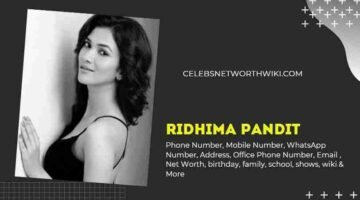 Ridhima Pandit Phone Number, WhatsApp Number, Contact Number, Office Phone Number