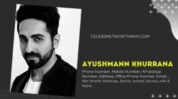 Ayushmann Khurrana Phone Number, WhatsApp Number, Contact Number, Office Phone Number
