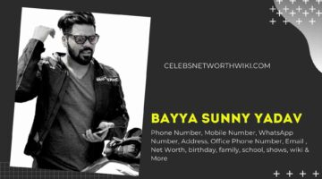 Bayya Sunny Yadav Phone Number, WhatsApp Number, Contact Number, Office Phone Number