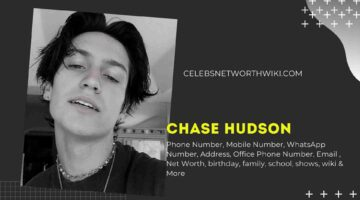 Chase Hudson Lilhuddy Phone Number, WhatsApp Number, Contact Number, Office Phone Number