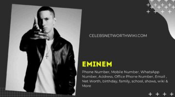 Eminem Phone Number, WhatsApp Number, Contact Number, Office Phone Number