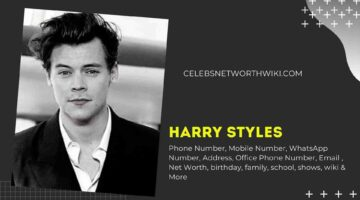 Harry Styles Phone Number, WhatsApp Number, Contact Number, Office Phone Number