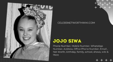 JoJo Siwa Phone Number, WhatsApp Number, Contact Number, Office Phone Number