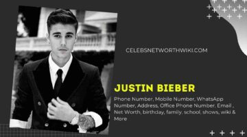 Justin Bieber Phone Number, WhatsApp Number, Contact Number, Office Phone Number