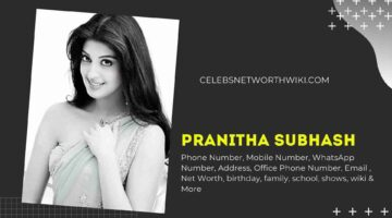 Pranitha Subhash Phone Number, WhatsApp Number, Contact Number, Office Phone Number