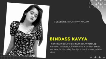 Bindass Kavya Phone Number, WhatsApp Number, Contact Number, Office Phone Number