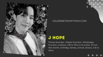 J Hope Phone Number, WhatsApp Number, Contact Number, Office Phone Number