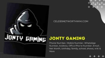 Jonty Gaming Phone Number, WhatsApp Number, Contact Number, Office Phone Number