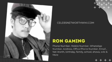 Ron Gaming Phone Number, WhatsApp Number, Contact Number, Office Phone Number