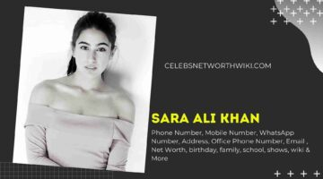 Sara Ali Khan Phone Number, WhatsApp Number, Contact Number, Office Phone Number