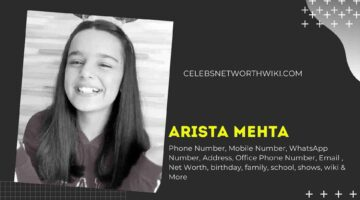 Arista Mehta Phone Number, WhatsApp Number, Contact Number, Office Phone Number