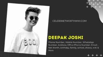 Deepak Joshi Phone Number, WhatsApp Number, Contact Number, Office Phone Number