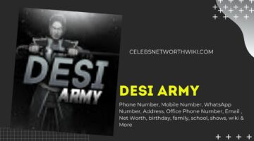 Desi Army Phone Number, WhatsApp Number, Contact Number, Office Phone Number