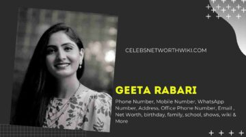 Geeta Rabari Phone Number, WhatsApp Number, Contact Number, Office Phone Number