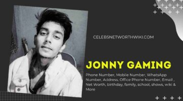 Jonny Gaming Phone Number, WhatsApp Number, Contact Number, Office Phone Number