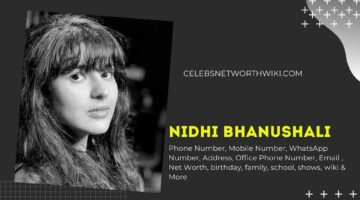 Nidhi Bhanushali Phone Number, WhatsApp Number, Contact Number, Office Phone Number
