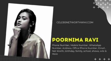 Poornima Ravi Phone Number, WhatsApp Number, Contact Number, Office Phone Number