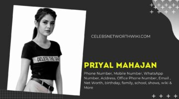 Priyal Mahajan Phone Number, WhatsApp Number, Contact Number, Office Phone Number