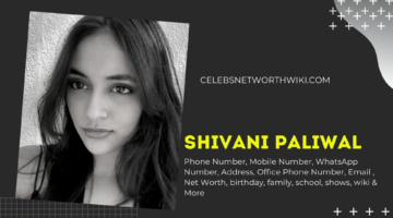 Shivani Paliwal Phone Number, WhatsApp Number, Contact Number, Office Phone Number