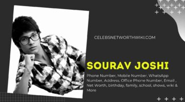 Sourav Joshi Phone Number, WhatsApp Number, Contact Number, Office Phone Number