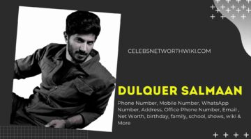 Dulquer Salmaan Phone Number, WhatsApp Number, Contact Number, Office Phone Number