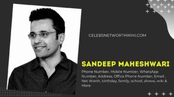 Sandeep Maheshwari Phone Number, WhatsApp Number, Contact Number, Office Phone Number