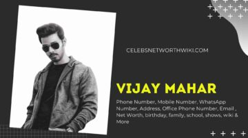 Vijay Mahar Phone Number, WhatsApp Number, Contact Number, Office Phone Number