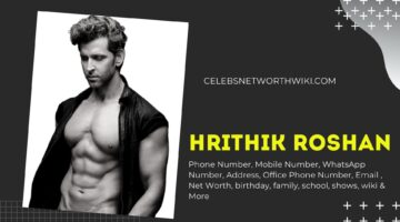 Hrithik Roshan Phone Number, Texting Number, Contact Number, Office Phone Number