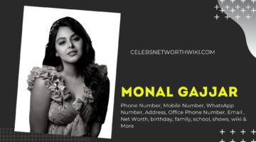 Monal Gajjar Phone Number, WhatsApp Number, Contact Number, Office Phone Number